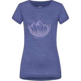 super.natural Printed T-shirt Dames, coastal fjord melange/fairy tale unconventional